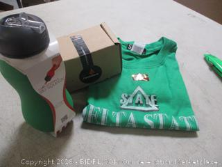 Shirt, Travel Bottle and Candle Apple Green Metallic