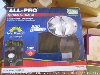 All Pro Motion Activated Solar Powered LED Floodlight