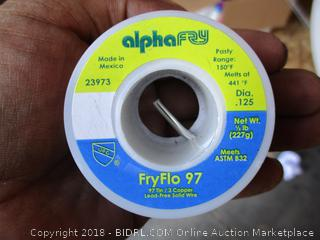 Alpha Fry  Fry Flo 97 / 97 Tin/ 3 Copper Lead-Free Solid Wire