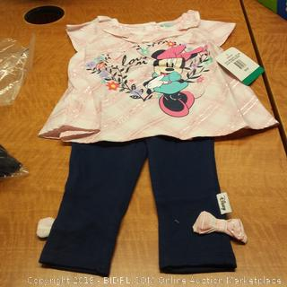 Girls Minnie 2 Piece  3/6M