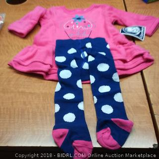 Girls 2 Piece 0-3mos