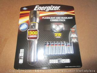 Energizer Flashlight and Headlight Combo Pack  Powers On