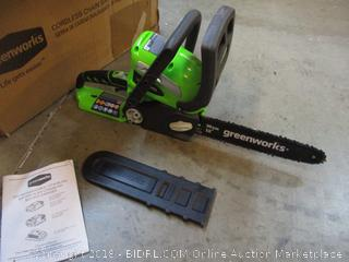 Greenworkds Chain Saw/ Missing Battery