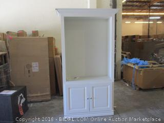 "Cabinet with Doors 48"" x21"" x87"" / Loose at one corner See Pictures"