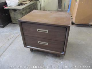 2 Drawer Night Stand  with charging system see pictures