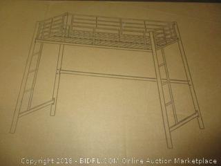 Walker Edition Metal Twin Loft Bunk Bed- White