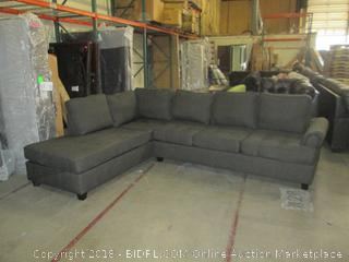 Sofa w/chaise damaged See Pictures