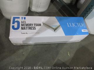 """Lucid 5"""" Gel Memory Foam Mattress  Twin XL"""