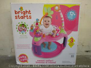 Bright Start Sweet Safari bounce-a-round Pretty in pink - Sealed