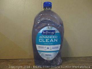 Softsoap Advanced Clean Hand Soap  Refill/ Some Bottles may have slight damage to them
