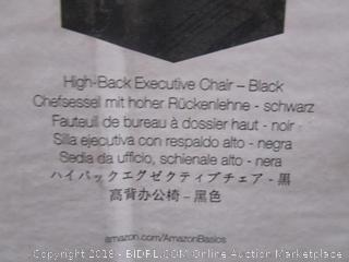 High Back Executive Chair - Black See Pictures