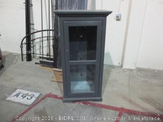 Cabinet with Glass Door and shelves
