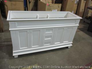 "Moreno Fayer 60""  White Bathroom Vanity"