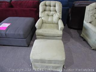 Chair with ottoman/ see pictures