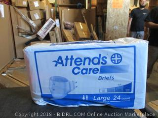 Attends Care Briefs Size Large