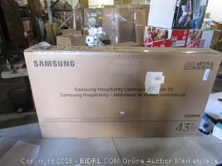 "Samsung 43""  Powers On/ Sealed Opened for Picturing"