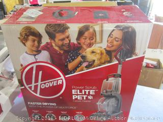 Hoover Elite Pet Power Scrub Carpet Cleaner  Powers On, Sealed Opened For Picturing