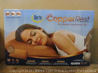 Serta Copper Rest Gel Memory Foam Pillow