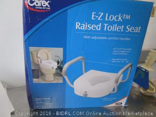 E-Z Lock Raised Toilet Seat