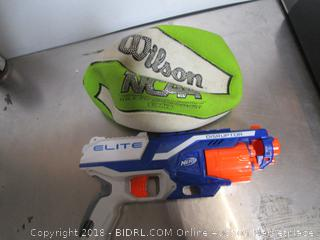 Lot Wilson NCAA Basketball & Nerf Elite Gun