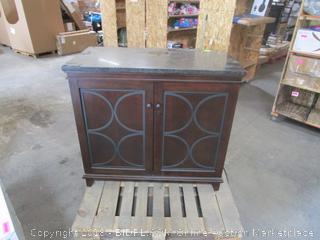 Wine Cooler Cabinet (bottle shelf gets cold, top shelf does not)
