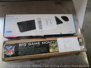Big Game Monitor/ Wireless Keyboard
