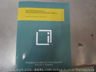 Anthropological Bibliography of Negro Africa