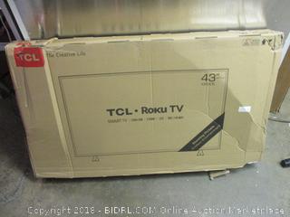 """43"""" TCL Roku TV 4K HDR smart tv"""