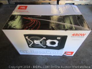 "JBL 12"" car audio powered subwoofer system"