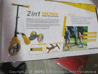 2 in 1Child Walker Balance Bike and Scooter