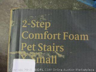 Zinus 2 Step Comfort Foam Pet Stairs X Small