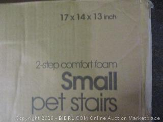 2 Step Comfort Foam Small Pet Stairs