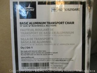 Medline Basic Aluminum Transport Chair  See Pictures