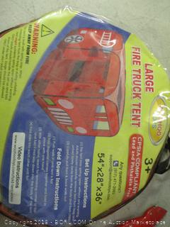 large fire truck tent