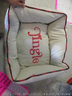 Christmas dog bed