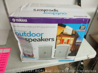 Yamaha wide frequency response outdoor speakers