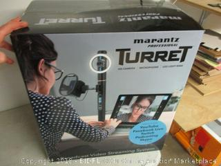 Marantz professional turret camera, microphone, and LED light ring