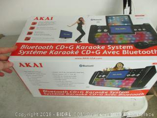 AKAI bluetooth CD/G Karaoke system