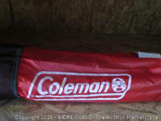 coleman folding camping/outdoors item