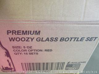 Premium Woozy Glass Bottle Set