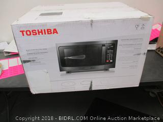 Toshiba Microwave Powers On