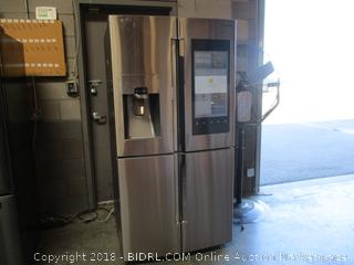 Samsung Refrigerator with touch screen , Some Dents and Scratches, Door Open Alert Keeps Going off See Pictures