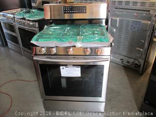 Samsung Stove and Oven with Power Burner , Dented See Pictures