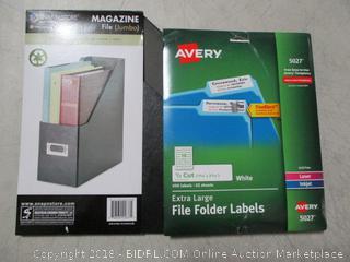 File Folder Labels & Magazine File