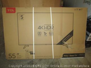 """TCL 55""""  4K HDR  Roku TV See Pictures"""