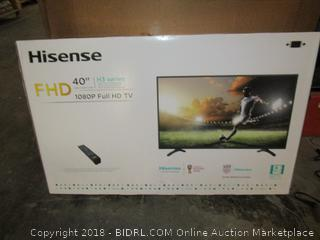 "Hisense 40"" H3 Series  1080P Full HD TV  Powers on, Like New See Pictures"