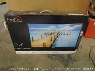 "Super Sonic 24"" LED HDTV with DVD  Powers On See Pictures"