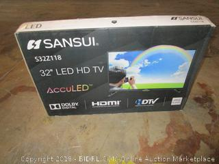 "Sansui 32"" LED HD TV    Cracked Screen See Pictures"