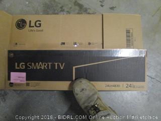 "LG Smart TV 24"" Class TV  Powers on , Like New See Pictures"