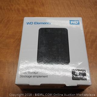 WD Element Basic Storage  Powers On